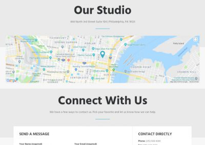 PixelPerfect Studios - Contact Page