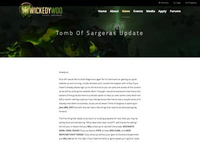 Wickedy Woo - News Post